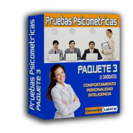 Psicometrias para TRES candidatos